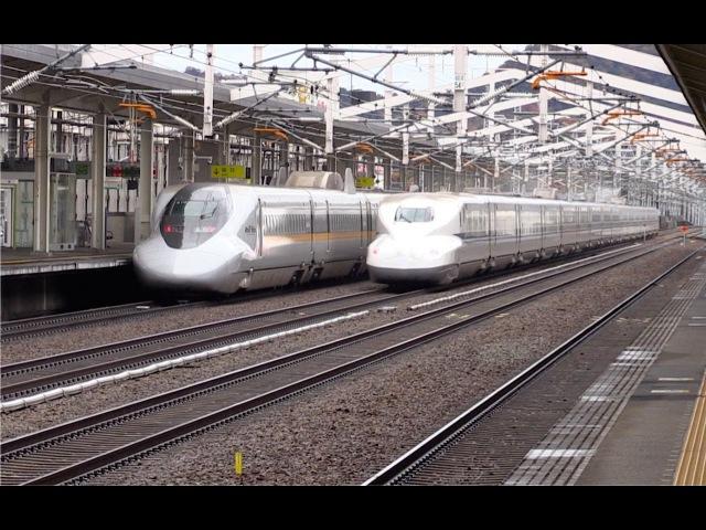 Shinkansen high speed flybys at Himeji HD 60fps