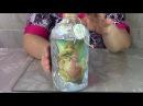 Применяем несколько техник декора Бутылка для крещенской воды ХоббиМаркет
