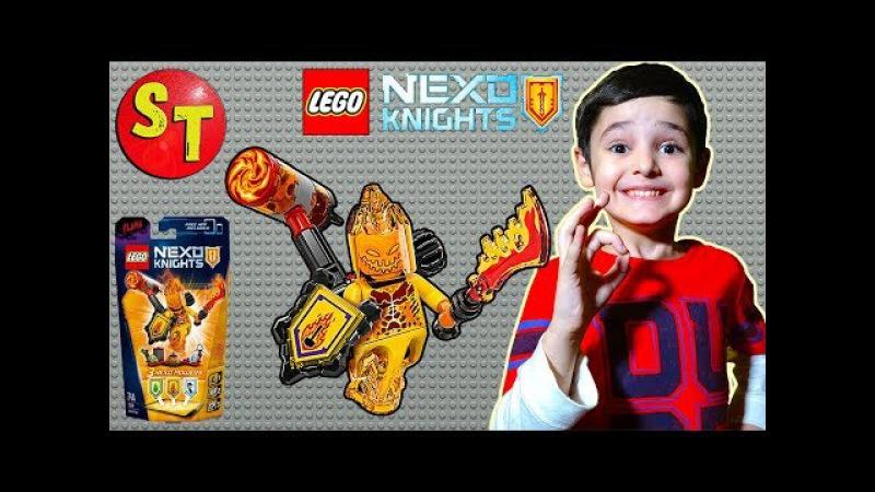 Фигурки ЛЕГО НЕКСО НАЙТС ФЛАМА - абсолютная сила. LEGO Nexo Knights Flama. funny kids .