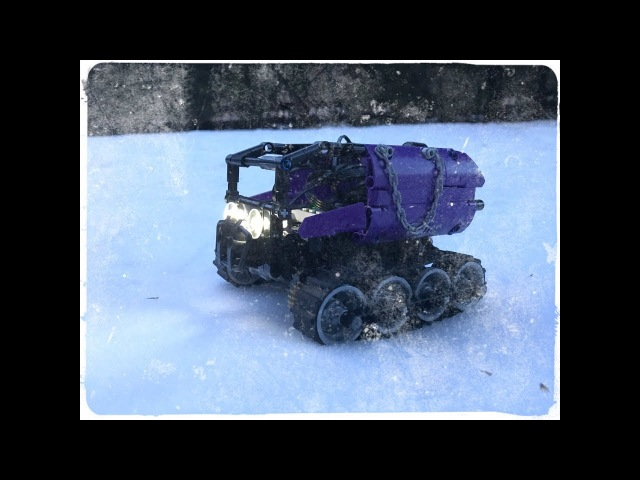 LEGO RC TRACKED OFFROAD VEHICLE RIDE IN SNOW