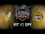 VIT vs. SPY - Week 4 Day 2 EU LCS Spring Split Team Vitality vs. Splyce (2018)