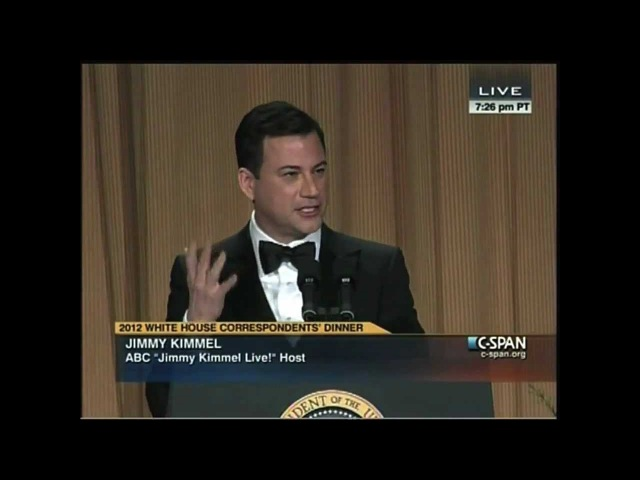 Jimmy Kimmel Roasting at the 2012 White House Correspondents' Dinner
