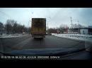 ДТП 16.03.2018 микроавтобус снёс бампер легковушке Кемерово