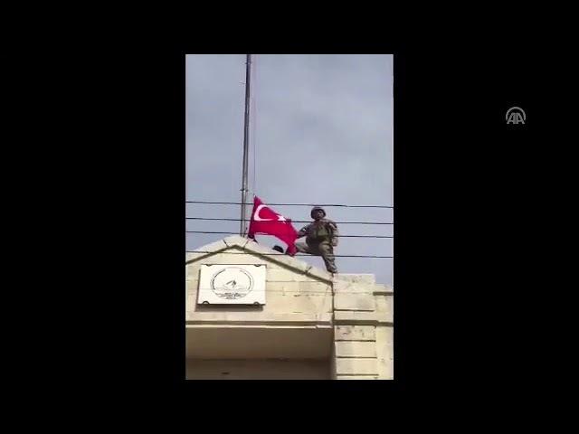 Afrin düştü aferinde Türk bayrağı dalgalanıyor