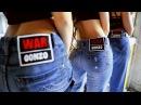 Расстрелянные джинсы WarGonzo на супермоделях