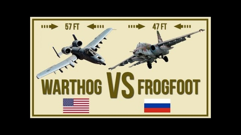 A10 Warthog vs SU 25 Frogfoot - Flying Tank Comparison