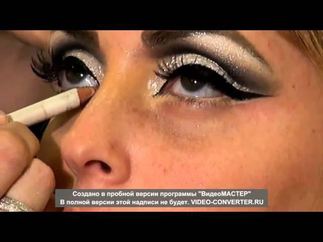 Арабский макияж глаз( в черно-белых тонах)