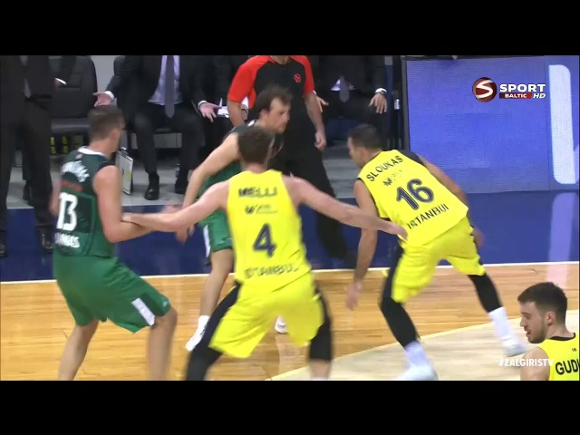 Kevin Pangos vs Fenerbahce (2017.12.14) 22 points, 4 threes and 7 assists