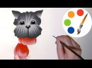 Easy way to paint The Dog in 10 minutes, double stroke, irishkalia
