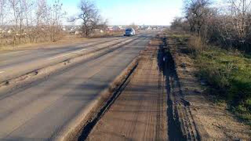Ужасающее состояние дороги Кучурган - Одесса (у Васильевки)