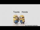 Minions toyota vs honda by thanasis tsokanis