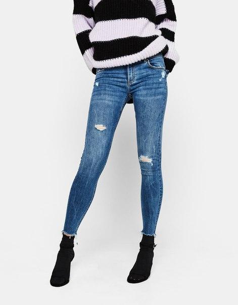 Эластичные джинсы из органического хлопка, с эффектом пуш-ап