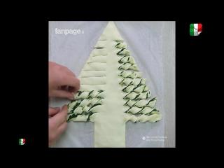 Albero di natale con spinaci