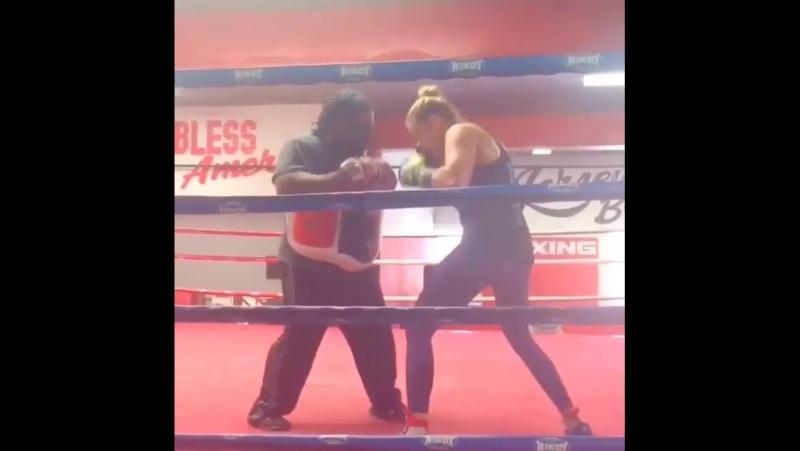 Тренировка по боксу Кэтлин Чукагян (Katlyn Chookagian)