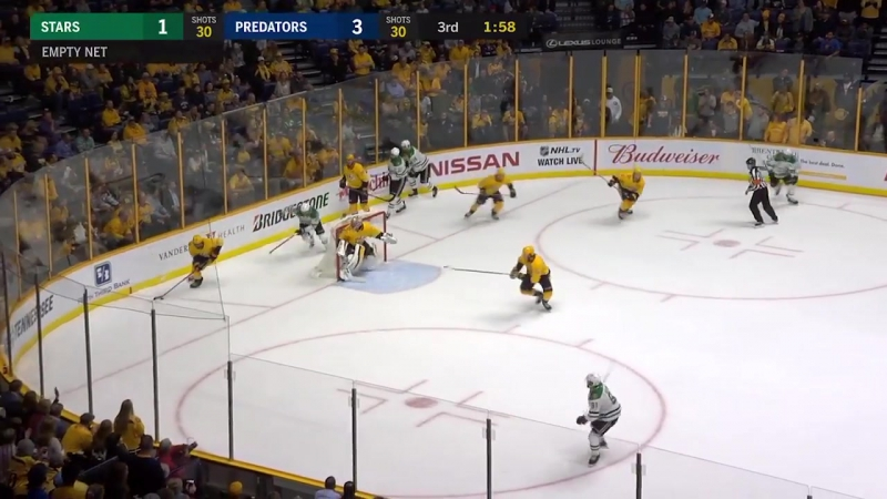 НХЛ - регулярный чемпионат. Нэшвилл Предаторз - Даллас Старз - 4:1 (0:1, 2:0, 2:0)