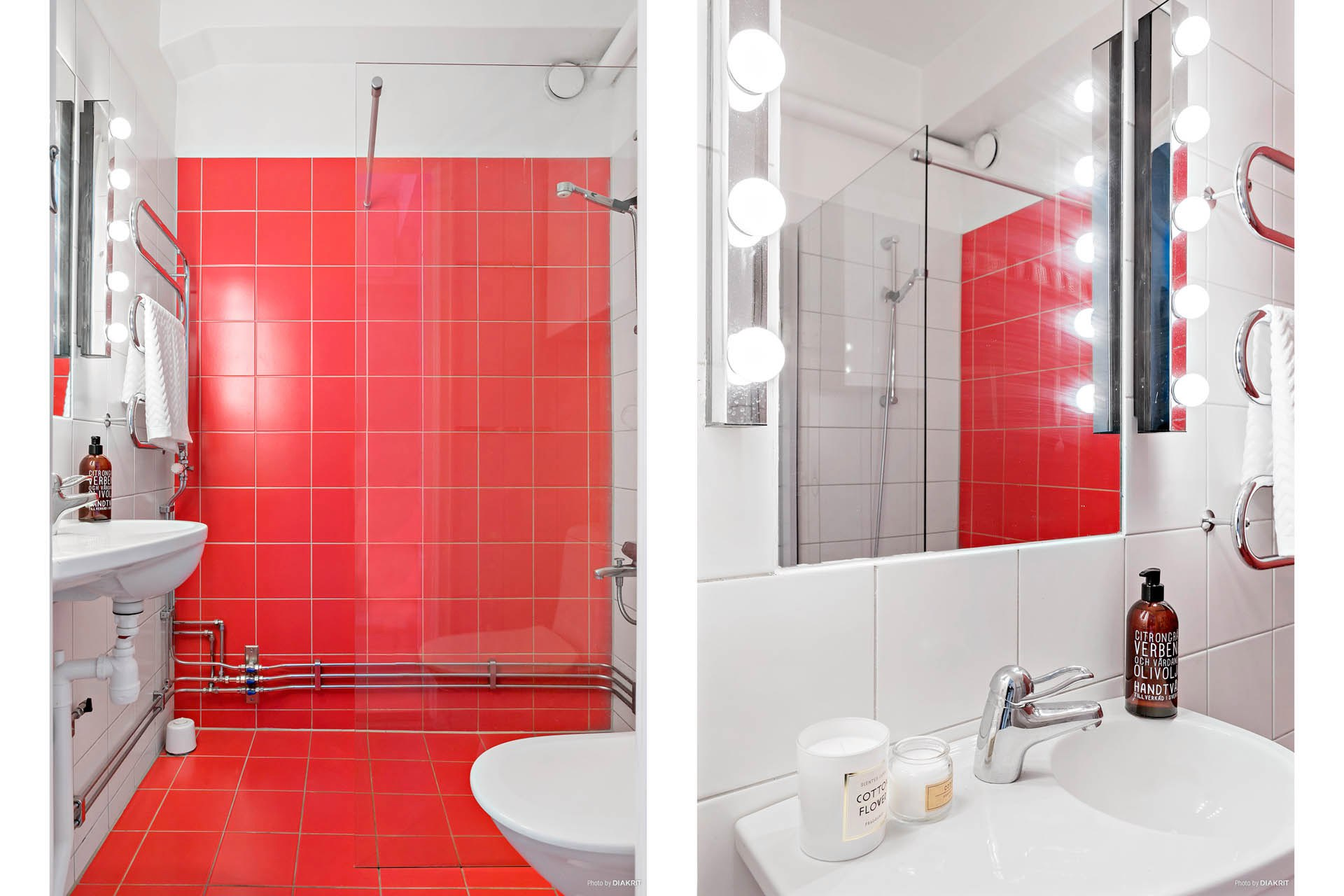 Квартира-студия почти 31 м с барной стойкой из стеклоблоков и откидной кроватью.