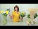 Как сделать спиральный букет с колосками Мастер класс практической флористики