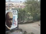 Путина поздравили с днем рождения с помощью граффити