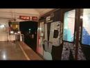Отправление Тематического поезда 81 741 4 Зелёное Метро со станций метро Октябрьская Кольцевой линий метро москва метрооктяб