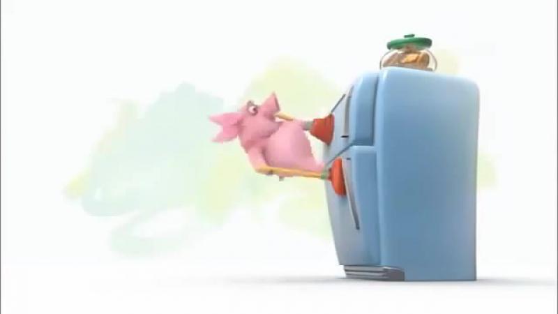 Смешной мультик про свинью