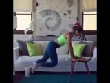Домашняя тренировка со стулом для девушек