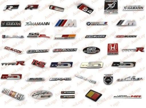 Магазин с выбором различных шильдиков эмблем