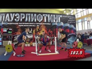 Выступление Ксении Гуниной на Чемпионате города Москвы по пауэрлифтингу, 21.12.2017