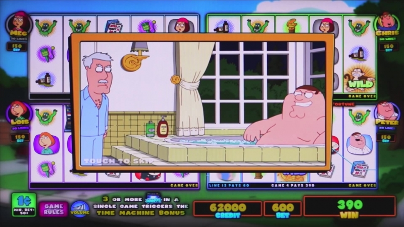 Family Guy slots pay by phone bill at Jackpot Mobile Casino