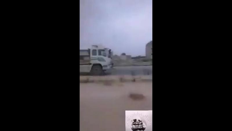 Конвой с техникой сил Тигра, Дамаск