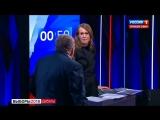 Собчак плеснула Жириновскому водой в лицо.