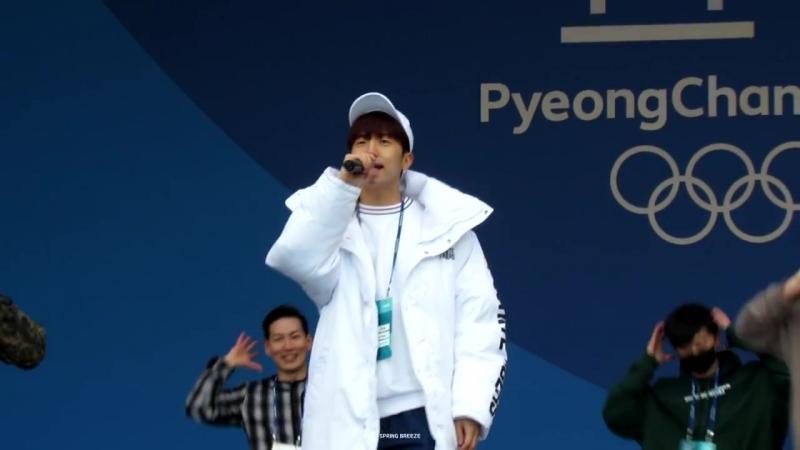 [Фанкам] 180219 2PM - HEARTBEAT (Фокус на Уёна) @ 2018 PyeongChang Winter Olympic Headliner Show - Rehearsal