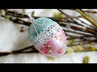 Пасхальные идеи. Как декорировать прозрачное пластиковое яйцо