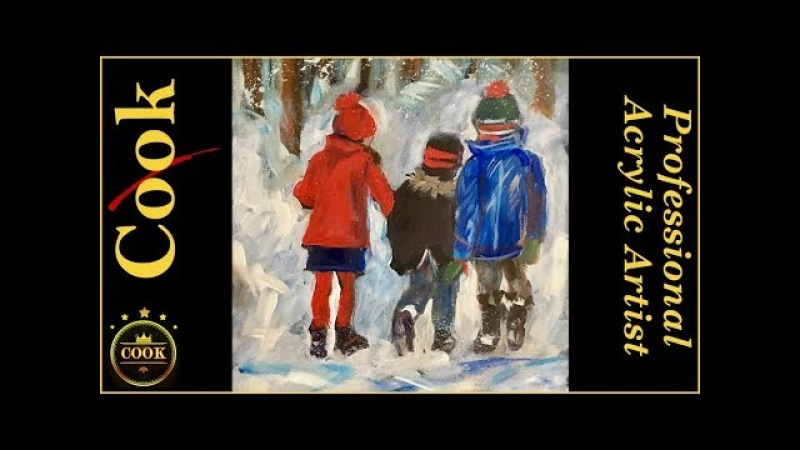 Ginger Cook will have a Live YouTube Acrylic Painting Tutorial