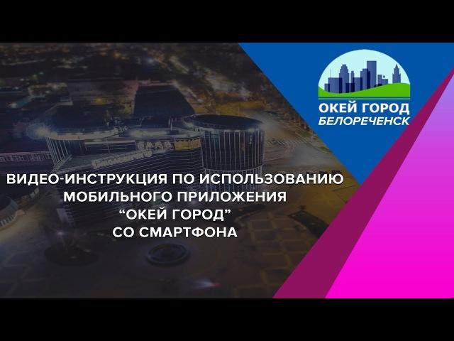 Инструкция по пользованию МП Окей город