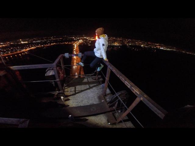 GoPro Roof climbed onto the Moscow bridge Dream Team паркур руферы экстрималы залаз на мост