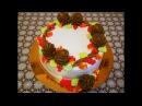 Торт ОСЕНЬ очень ВКУСНЫЙ МЯГКИЙ НЕЖНЫЙ Бисквитный торт РЕЦЕПТ cake decoration украшен