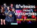 10 WINNERS Auditions From 10 Countries The Voice