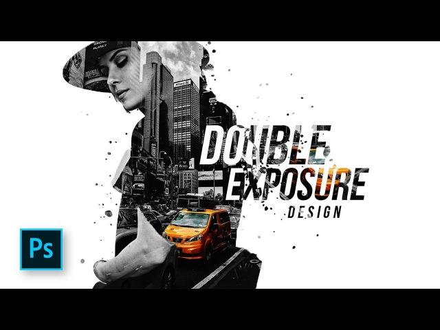 How to Combine Double Exposure Selective color Design in Photoshop - Photoshop Tutorials