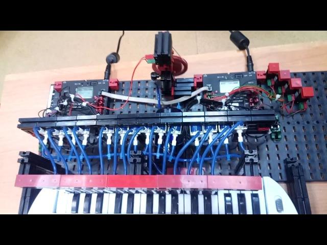 Робот-пианино на базе конструктора Fischertechnik