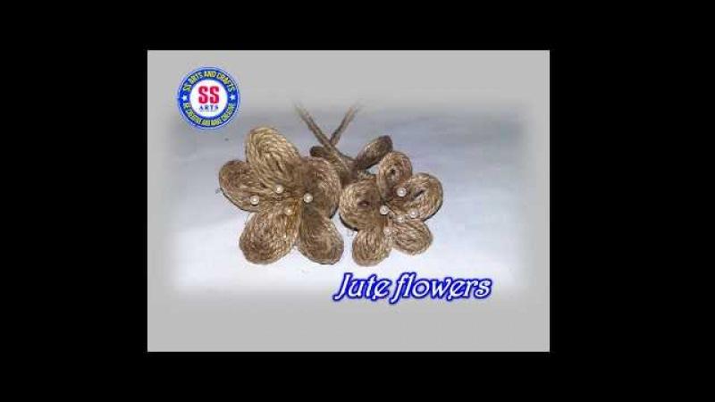 How to make Jute flowers /Jute crafts /Decorative jute flowers
