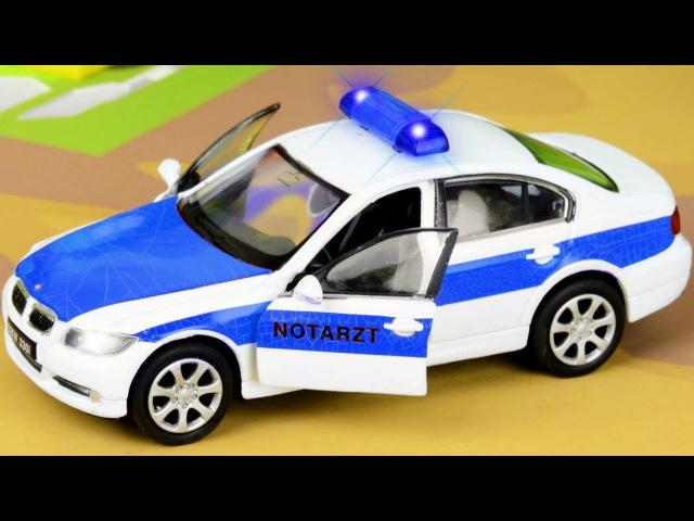 Radiowóz Karetka pogotowia i Auta Dla Dzieci. Natężenia Ruchu. Bajki po polsku. Police Car for Kids