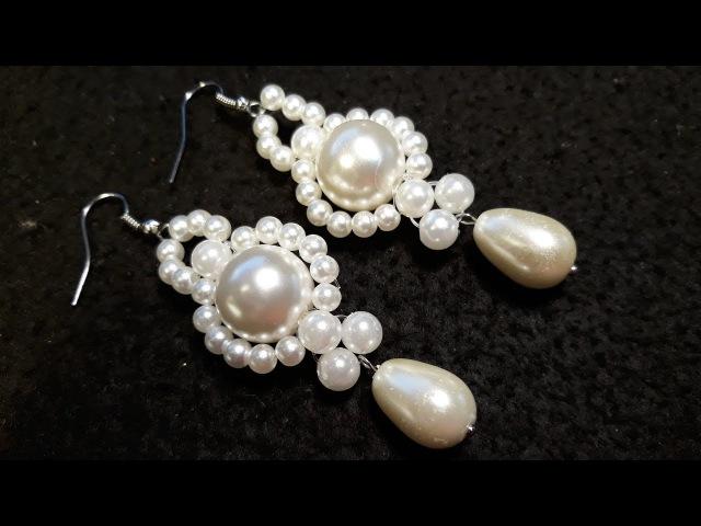 Hermosos y Sencillos Aros de Perlas...Clase 77