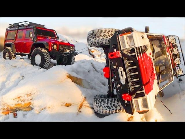 Traxxas TRX4 VS Axial SCX10 II — Jeep Cherokee 4x4 VS Land Rover Defender 110