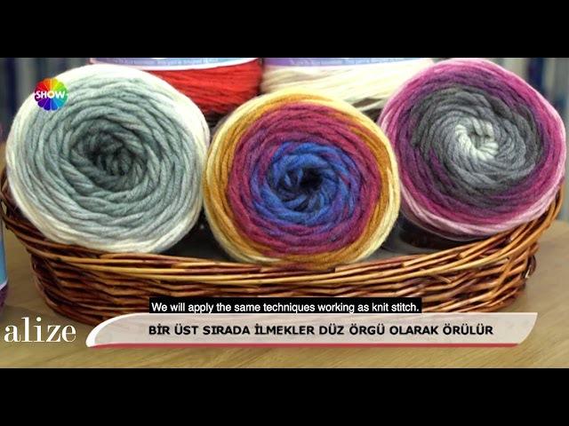 Alize Superlana Maxi Long Batik ile Dikişsiz Bere-Boyunluk Yapımı-Making Seamless CowlBeret w Alize