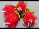 Kurdele oyaları büzmeli menekşe çiçeği yapılışı Ribbon dowry constricted violet flower making