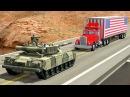 Встреча с танком на дороге Тачки в хлам Непобедимый стальной монстр BeamNG Drive ДТП Игра авария