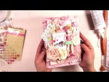 Small canvas tutorial by Ola Khomenok, with Julie Nutting stamp and Love Story papers