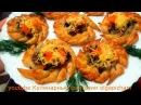 Настоящее объедение с грибами и сыром Закусочные Слойки Цветочки Порадуйте себя и своих гостей