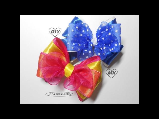 Бант из лент МК/ DIY Ribbon bow/ PAP Arco de fita Tutorial