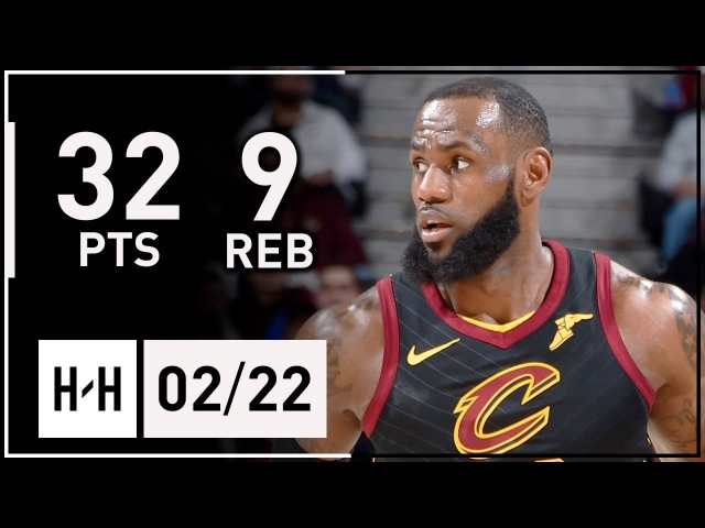 LeBron James Full Highlights Cavaliers vs Wizards (2018.02.22) - 32 Points, 9 Reb, 8 Assists!